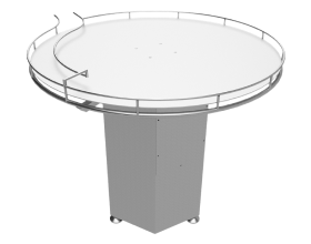 Rotary table for cans