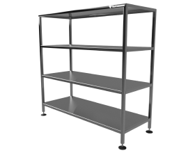 Production shelves and stands
