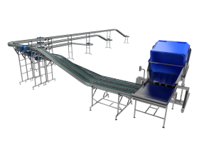 Conveyor Line for Secondary Packing