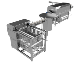Autoclave basket loading line