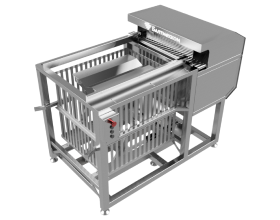 Semi-automatic basket loader