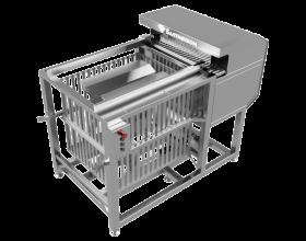Полуавтоматический укладчик банок в корзины автоклава